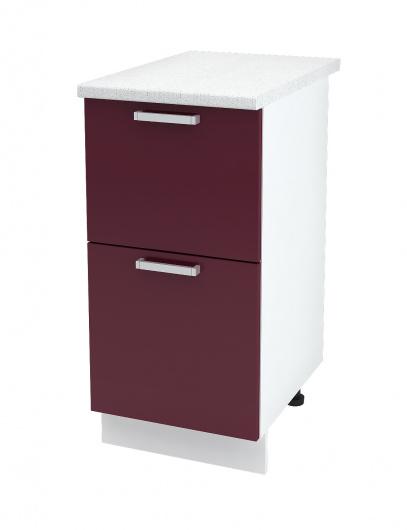 Шкаф нижний с двумя ящиками Глория ШН2Я 400
