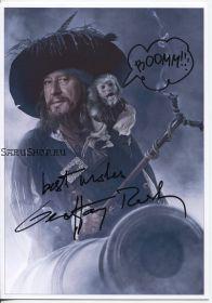 Автограф: Джеффри Раш. Пираты Карибского моря