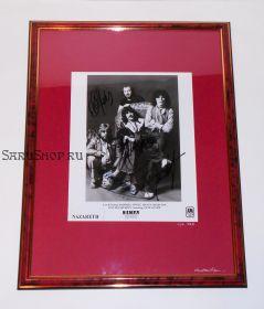 Автографы: Nazareth. Маккаферти, Эгнью, Чарлтон, Свит. 1978 год. Редкость