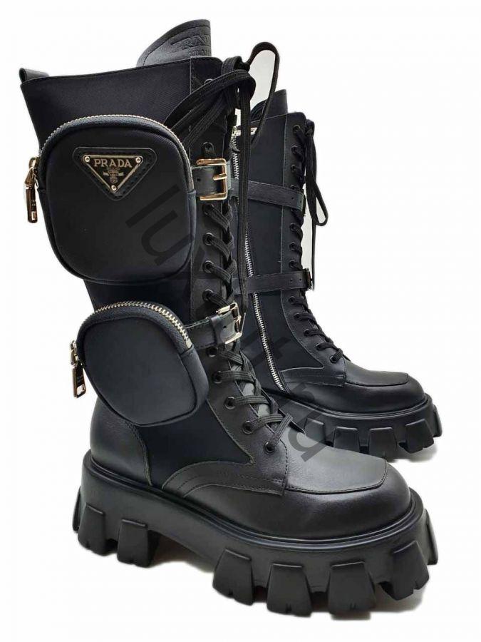 Высокие ботинки Prada с карманами