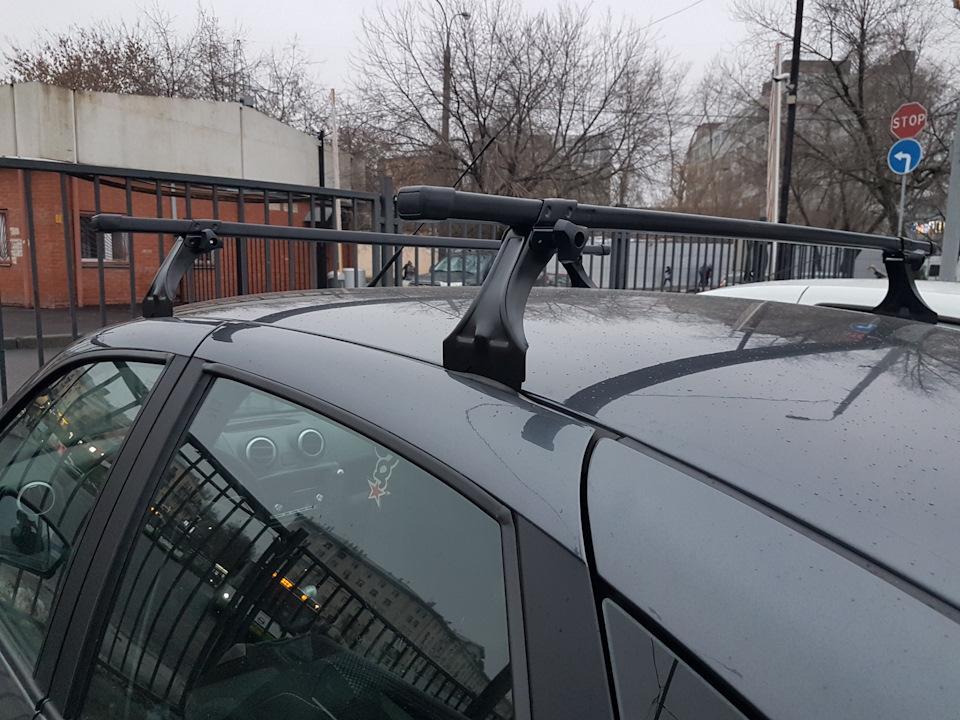 Багажник на крышу на Lada Granta / Lada Kalina / Datsun On-Do / Datsun Mi-Do - Delta (Россия), стальные дуги