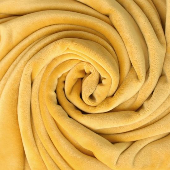 Мелковорсовый мех (ворс 1-2 мм) - цвет Банановый  50*40