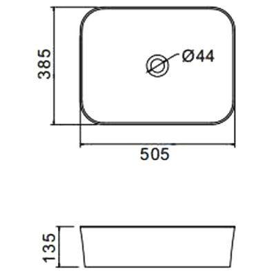 Раковина на столешницу Gappo GT401