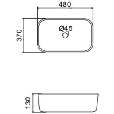 Черная раковина на столешницу Gappo GT403-8