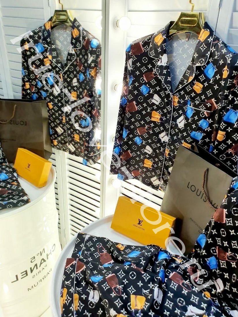 720180 -Цена за 3 шт, Пижама двойка LV сумочки темные(M,L,XL)