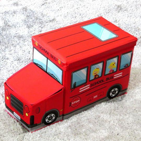 Короб для хранения игрушек Автобус, 2 отделения (55х25х31 см)