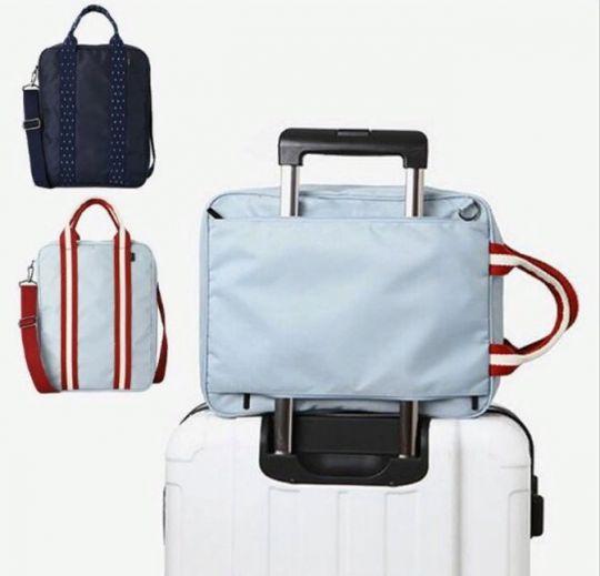 Компактная вместительная сумка для путешествий с плечевым ремнём, 28х13х36 см