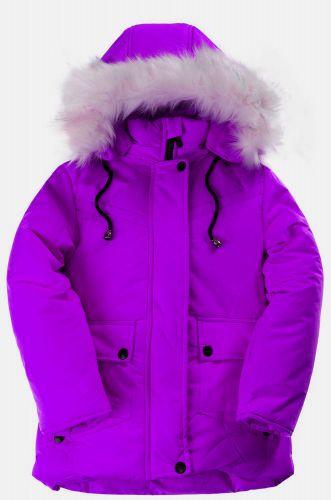 Зимняя куртка для девочек 4-8 лет Bonito OP015K фиолетовый