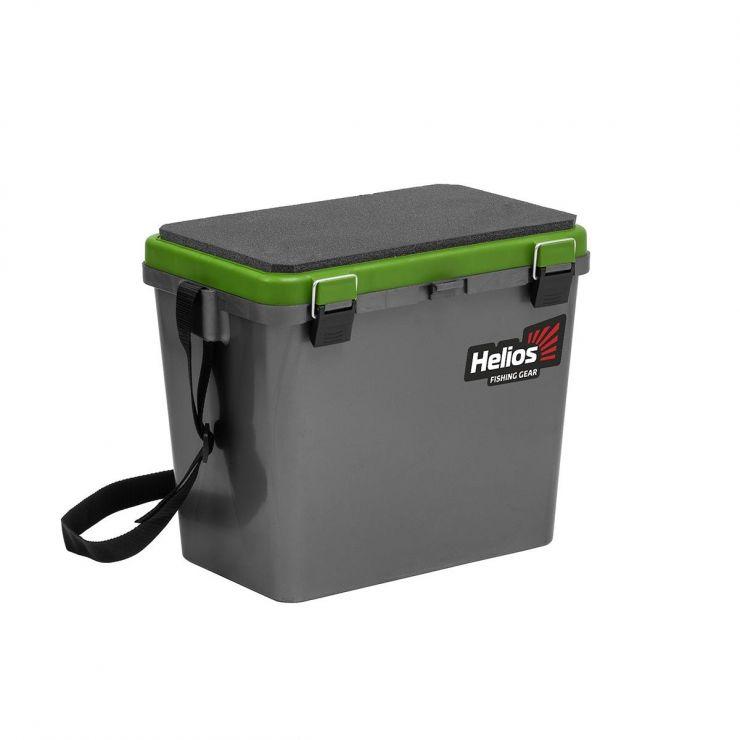 Ящик зимний HELIOS односекционный серый/салатовый HS-IB-19-GG-1