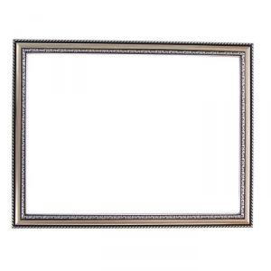 Рама для зеркал и картин, пластик, 30 х 40 х 2.8 см, Calligrata 644821, серебро