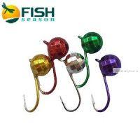 Мормышки для спиннинга Fish Season Шар граненый вольфрам d5 мм /1,2 гр / упаквока 5 шт / цвет: микс