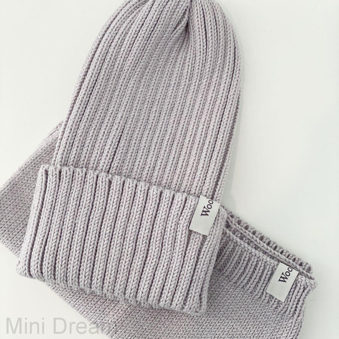 Комплект вязанный светло-серый