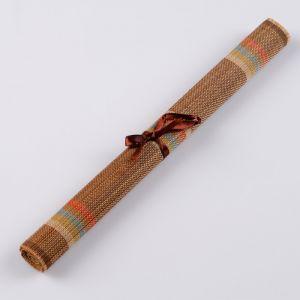 Салфетка плетёная тёмная, 30х50 см, бамбук, микс  4624007