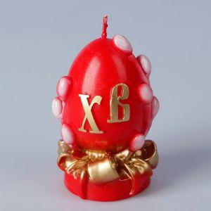 Декоративная свеча «Пасхальное яйцо с вербой» малая   3041596