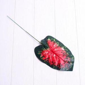 Лист искусственный с розовыми прожилками, 40 ? 13 см
