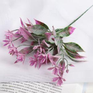 """Букет """"Цветочки с листиками"""" 18 см, (с напылением), микс   4642655"""