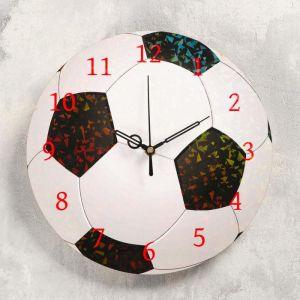"""Часы настенные """"Футбольный мяч"""", d- 23.5. плавный ход 5233995"""