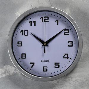 """Часы настенные, серия: Классика, """"Эми"""" d=19 см, плавный ход, 1 АА, серебристые   5165276"""