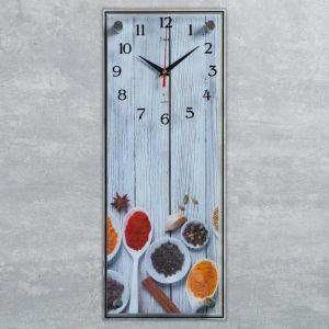 """Часы настенные, серия Кухня, """"Специи"""", плавный ход, 49.5х19.5 см 5306702"""