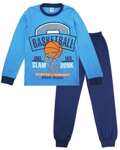 "Пижама для мальчика 9-12 лет Bonito kids ""Basketball"" голубая"