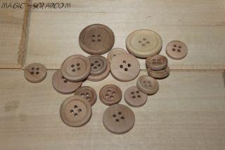 Деревянные пуговицы (продаются штучно)