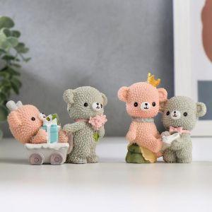 """Сувенир полистоун """"Мишки-малыши"""" МИКС 5,5х7,5х4 см   5185316"""