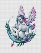 """Unicorn"". Digital cross stitch pattern."