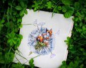 """""""Крошка лис"""". Схема для вышивания крестиком. Отшив."""