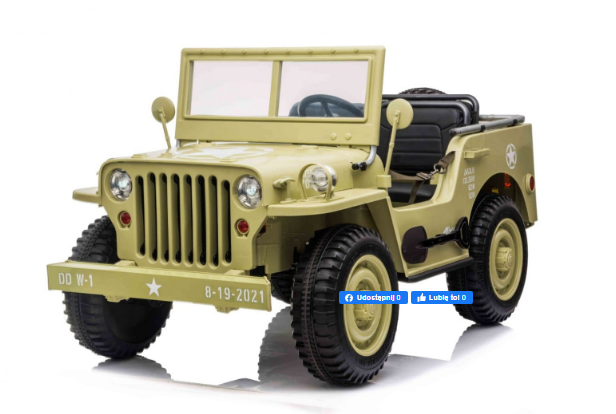 Автомобиль на аккумуляторе Военный ретро-автомобиль PA.JH-101.BEZ