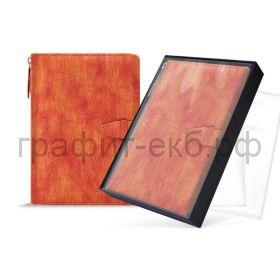 Ежедневник-органайзер А6+ лин+кл+точка Феникс+ ПАВЛИН хляст в петле оранжевый 50431