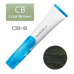 Lebel Materia µ Layfer CB6 - Тонирующая краска лайфер, Тёмный блондин холодный 80гр