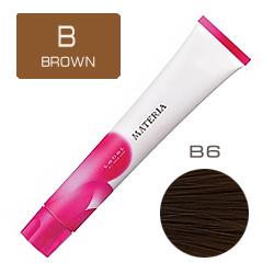 Lebel Краска для волос Materia B6 - Тёмный блондин коричневый 80 гр