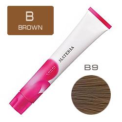 Lebel Краска для волос Materia B9 - Очень светлый блондин коричневый 80 гр