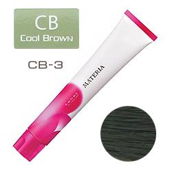 Lebel Краска для волос materia CB3 - Темный шатен холодный коричневый 80 гр