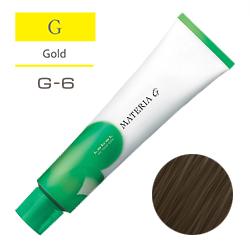 Lebel Краска для волос Materia G Тон G6 - Тёмный блондин желтый 120 гр.