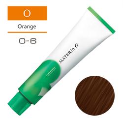 Lebel Краска для волос Materia G Тон O6 - Тёмный блондин оранжевый 120 гр.