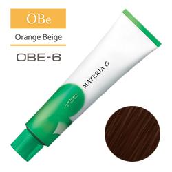 Lebel Краска для волос Materia G Тон OBE6 - Тёмный блондин оранжево-бежевый 120 гр.