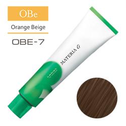 Lebel Краска для волос Materia G Тон OBE7 - Блондин оранжево-бежевый 120 гр.