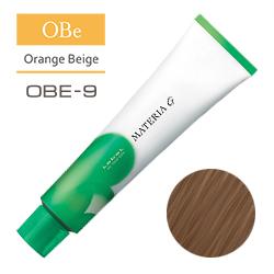 Lebel Краска для волос Materia G Тон OBE9 - Очень светлый блондин оранжево-бежевый 120 гр.
