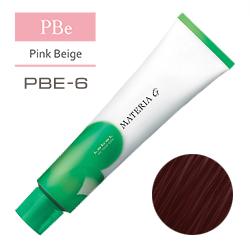 Lebel Краска для волос Materia G Тон PBE6 - Тёмный блондин розово-бежевый 120 гр.