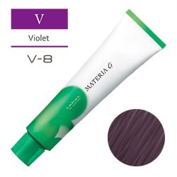 Lebel Краска для волос Materia G Тон V8 - Светлый блондин фиолетовый 120 гр.