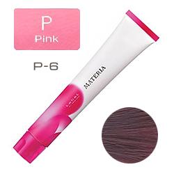 Lebel Краска для волос materia P6 - Темный блондин розовый 80 гр