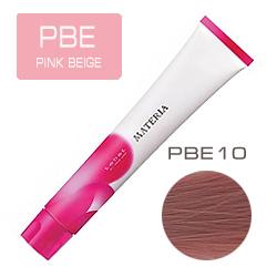 Lebel Краска для волос Materia PBE10 - Яркий блондин розово-бежевый 80 гр