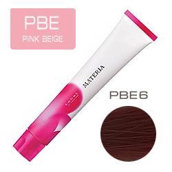 Lebel Краска для волос Materia PBE6 - Тёмный блондин розово-бежевый 80 гр