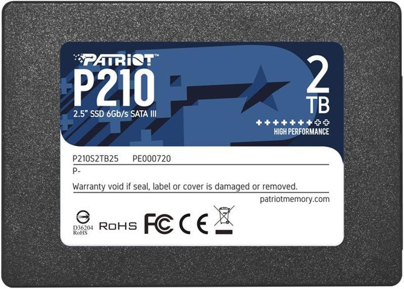 "Накопитель SSD 2TB Patriot P210 2.5"" SATAIII TLC (P210S2TB25)"