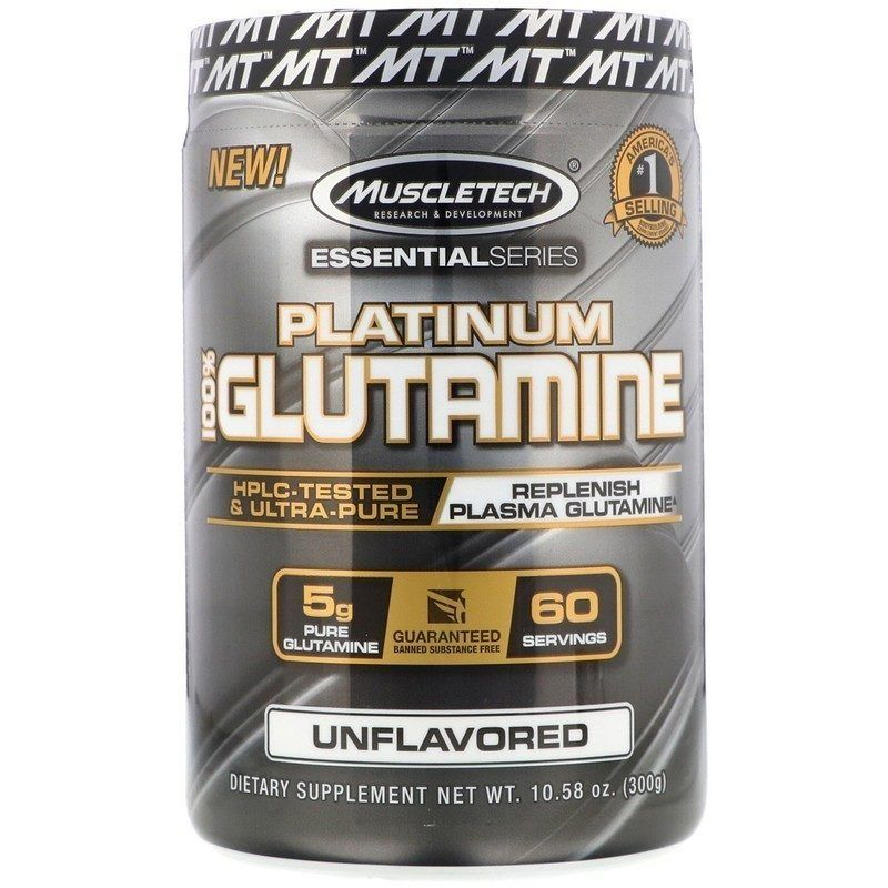 MUSCLETECH PLATINUM GLUTAMINE 300 Г