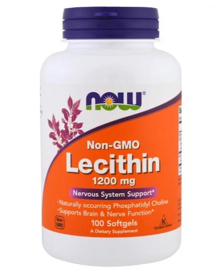 Now Foods Лецитин 1200 мг 100 капс