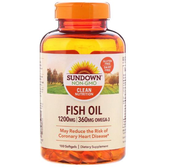 Sundown Naturals Fish Oil 1200 мг 100 табл