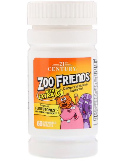 21st Century Zoo Friends с витамином C 60 таб