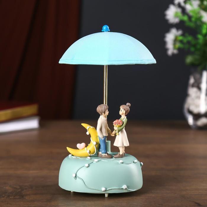 """Сувенир полистоун свет, музыка """"Влюблённые под зонтом"""" МИКС 21х12х12 см   5050990"""
